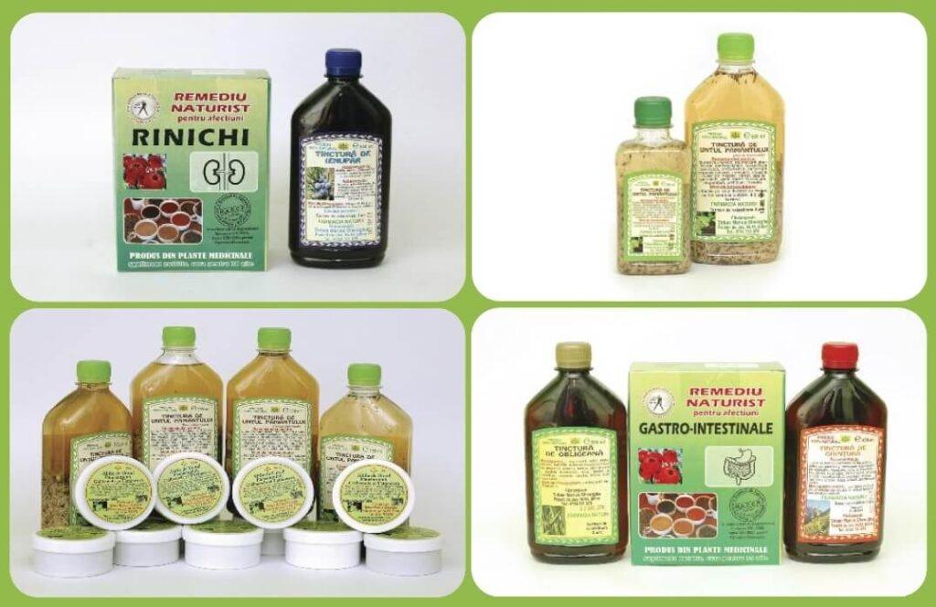 Tincturi, siropuri, alifii - produse din plante medicinale